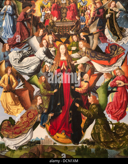 15th century  -  Mary, Queen of Heaven, around 1490, Master of the Legend of Saint Lucy Philippe Sauvan-Magnet / - Stock Image