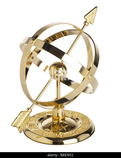 Armillary Sphere world globe - Stock Image