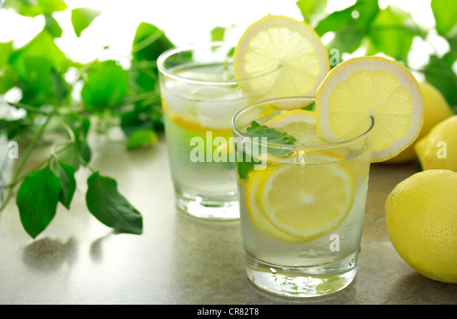 Refreshing Lemon Beverage - Stock Image