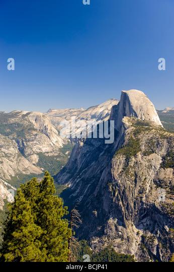 USA, California, Yosemite National Park, Glacier Point and Half Dome Mountain - Stock-Bilder