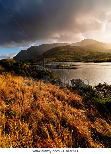 Killary Lough in County Galway in Ireland. - Stock-Bilder