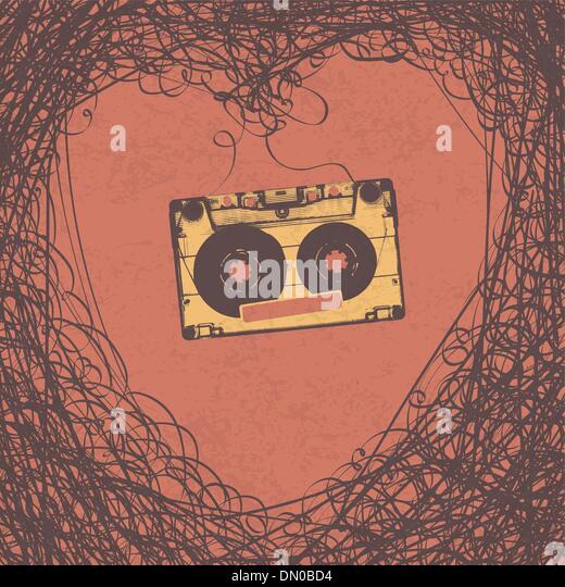 Loving retro music retro poster design. Vector, EPS10 - Stock-Bilder