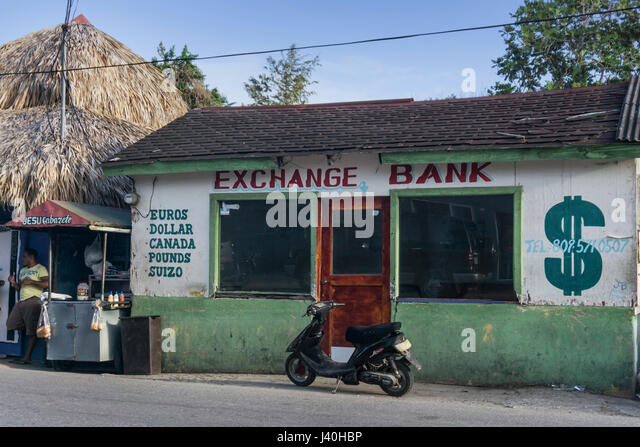 Exchange Bank, Cabaerete, Dominican Republic - Stock Image
