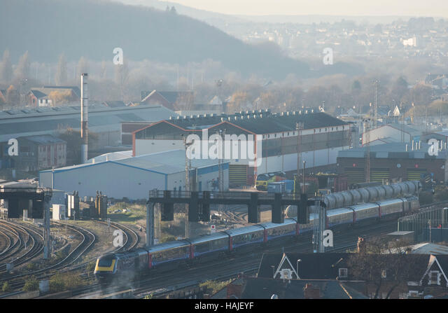 Arriva Trains Canton Train depot in Canton, South Wales, Cardiff, Wales, UK - Stock Image