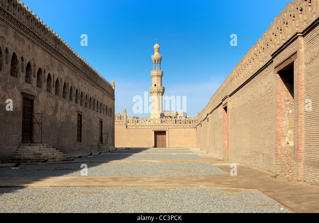 Ibn Tulun mosque (879), Cairo, Egypt - Stock Image
