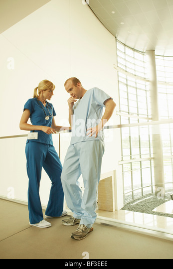 Doctor and nurse in hospital - Stock Image