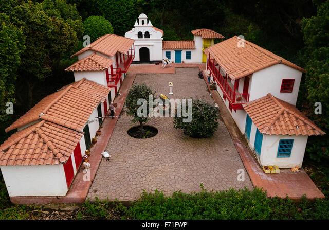 Colombia Pueblito Paisa miniature replicate - Stock Image