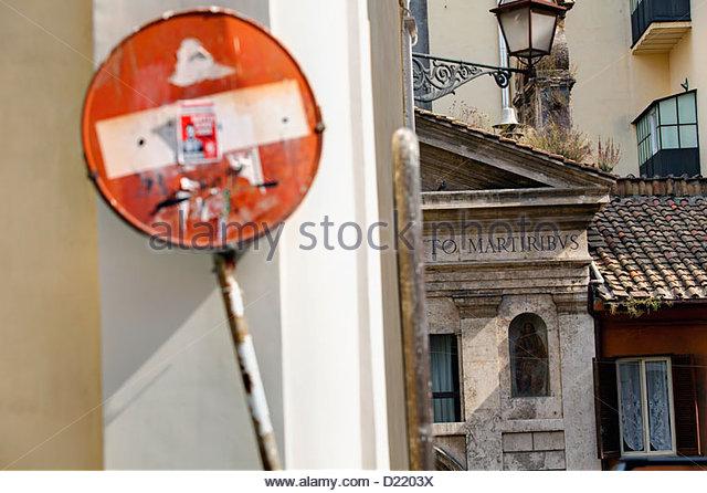 City view Rome Italy - Stock Image