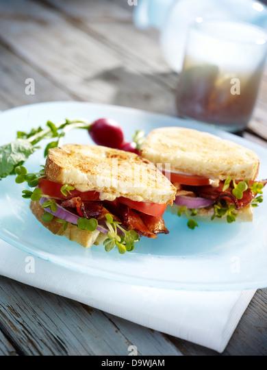 gourmet sandwich - Stock Image