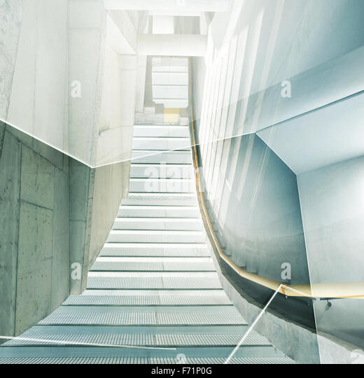 Abstract double exposure background. Architectural forms. - Stock Image