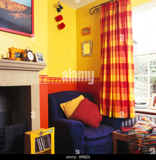 Checked Curtains Stock Photos Checked Curtains Stock