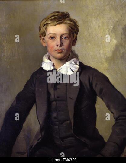 Ferdinand von Rayski Bildnis des Grafen Haubold von Einsiedel - Stock Image