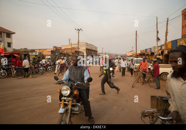 Busy street in Kampala, Uganda, East Africa. - Stock Image