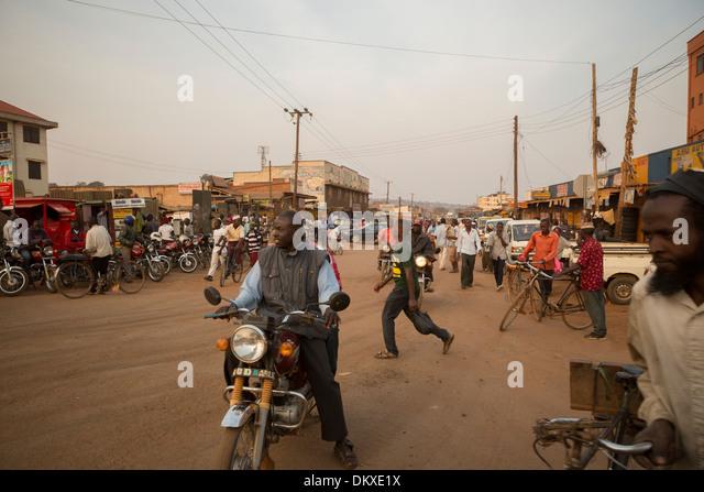 Busy street in Kampala, Uganda, East Africa. - Stock Image