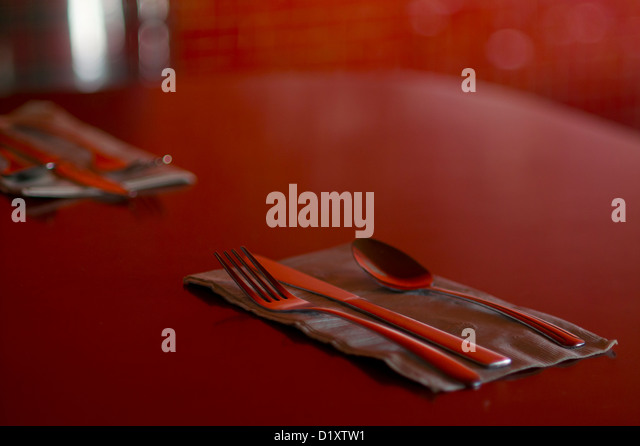 Two place settings - Stock Image