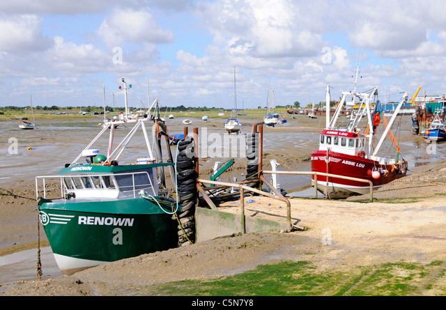 Cockle Boats  at Leigh on Sea - Stock Image
