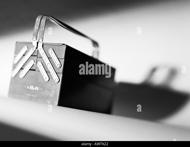 Tool box, close-up - Stock Image