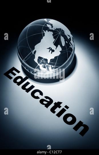 globe, concept of international education - Stock-Bilder