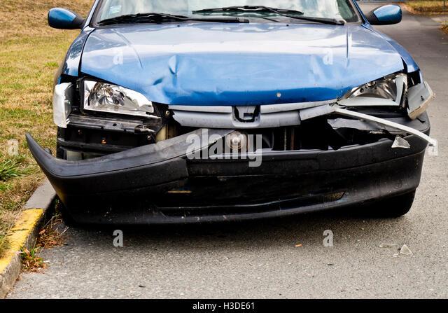 car crash - Stock Image