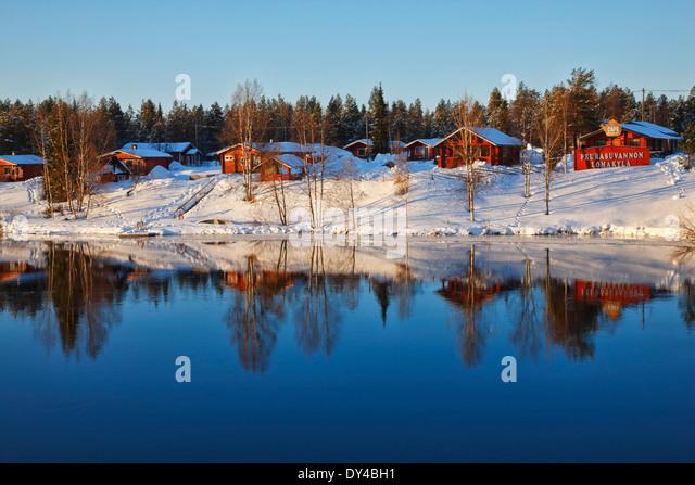 Finland, Lapland Peurasuvannon Lomakylä - Holiday Village - Stock-Bilder