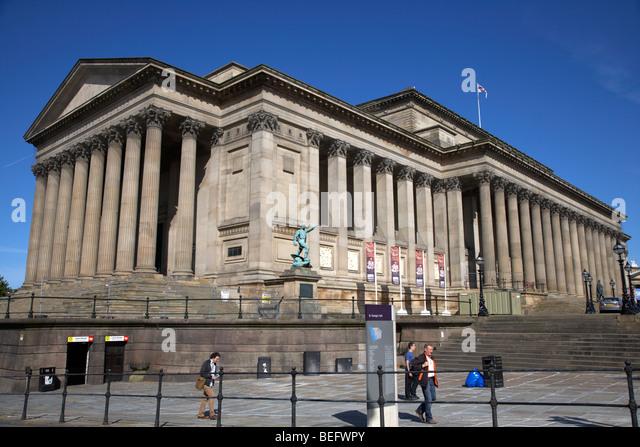 St Georges Hall liverpool merseyside england uk - Stock Image