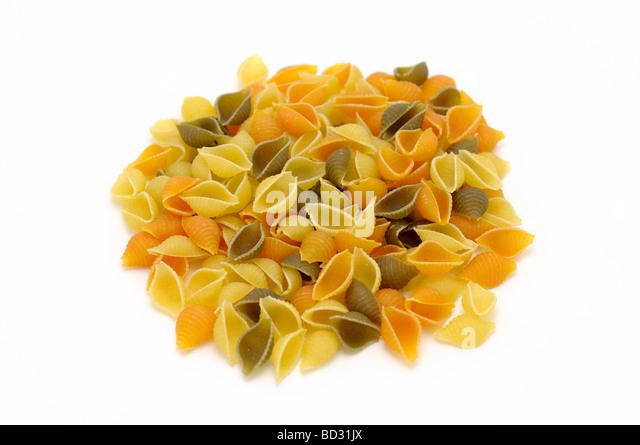 Pasta Shells, Dry Uncooked Pasta - Stock Image