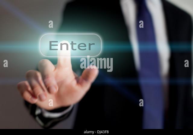Enter button, business concept - Stock-Bilder