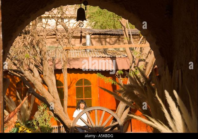 Chile San Pedro de Atacama downtown scene - Stock Image