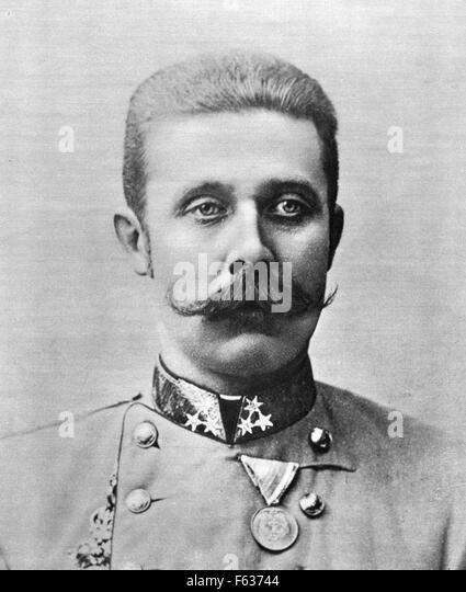 Archduke Franz Ferdinand of Austria - Stock Image