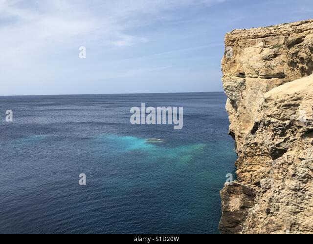 The remains of the Azure Window - Stock Image