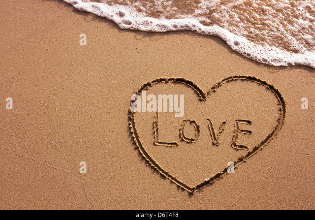 love on the beach, abstract photo - Stock Image