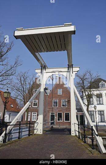 Jansbrug, bridge, Edam, The Netherlands - Stock Image