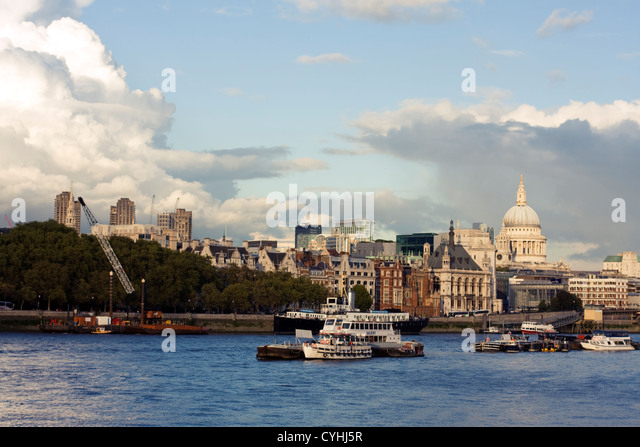 River Thames, Southbank, London, United Kingdom - Stock Image