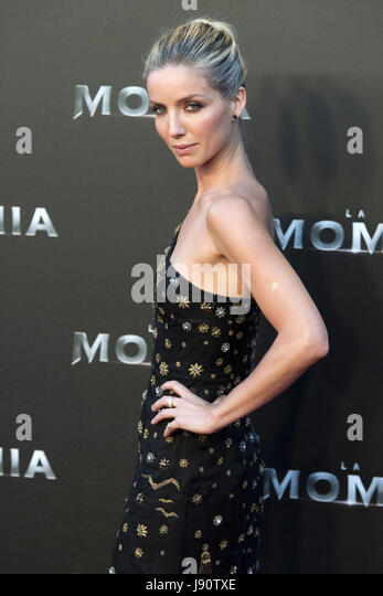 Madrid, Spain. 29th May, 2017. Annabelle Wallis attends 'The Mummy' premiere at Callao Cinema on May 29, - Stock Image