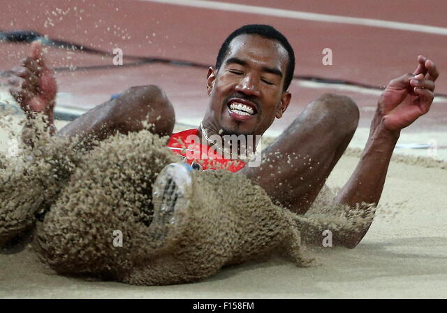 Beijing, China. 27th Aug, 2015. US Christian Taylor competes in the men's triple jump final on Day 6 of the - Stock-Bilder