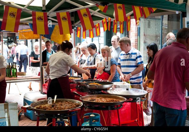 Su Casa Cusine at the 2010 Oswestry Food Festival - Stock Image
