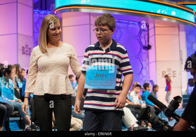 National Harbor, USA. 27th May, 2015. Joel Miles, 12, a sixth grader at Eagle Glen Intermediate School in Raymore, - Stock Image