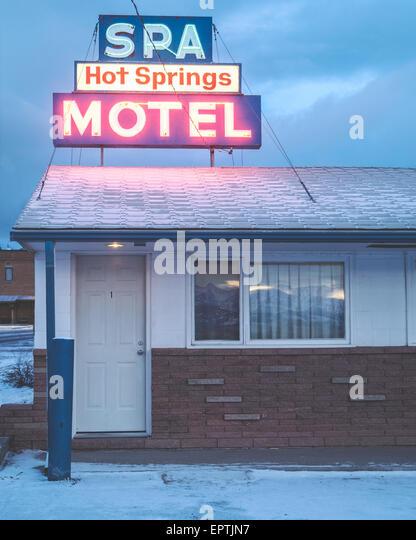 Spa and Motel in White Sulphur Springs Montana, USA - Stock Image