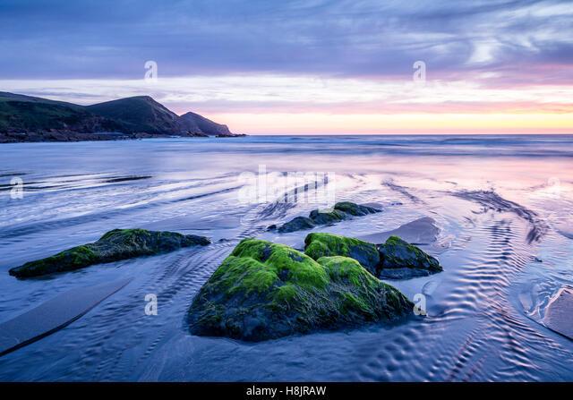 Crackington Haven on the Cornish coastline, UK. - Stock Image