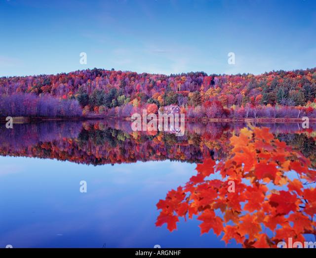 USA  NEW HAMPSHIRE  SPECTACLE POND NEAR CROYDON - Stock Image