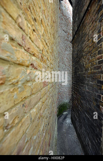 Squeeze Gut Alley, Whitstable, Kent - Stock Image