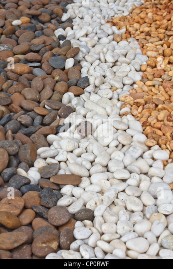 Background of stones that ornamental of Thai house garden - Stock-Bilder