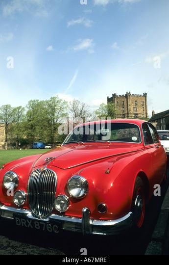red jaguar car stock photos red jaguar car stock images. Black Bedroom Furniture Sets. Home Design Ideas