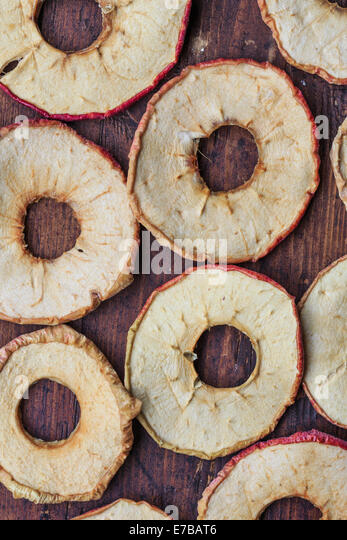 round dried apples - Stock Image