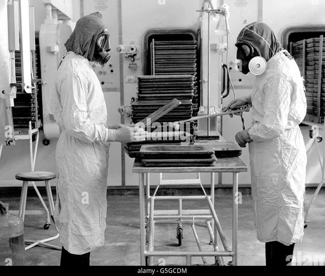 Health - Anthrax Vaccine Testing - Porton Down, Wiltshire - Stock Image