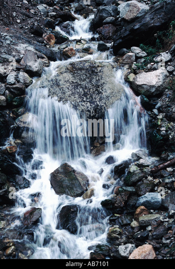 A mountain waterfall in North Cascades National Park COPYRIGHT DUANE BURLESON - Stock Image
