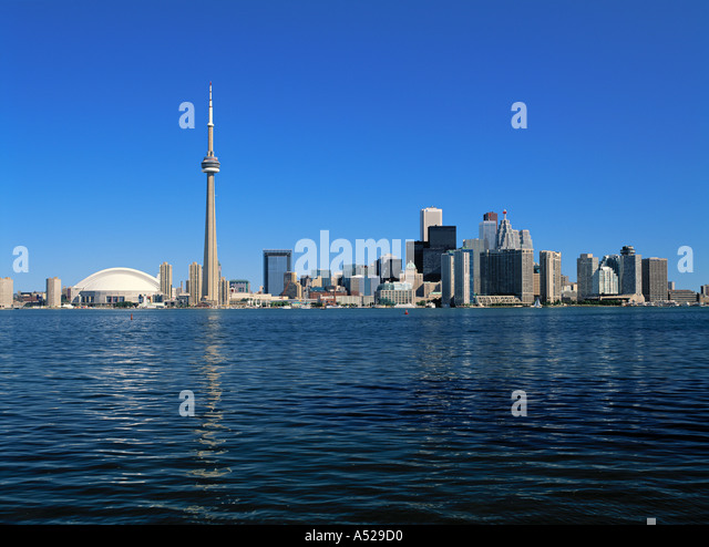 Toronto & CN Tower, Ontario, Canada - Stock Image