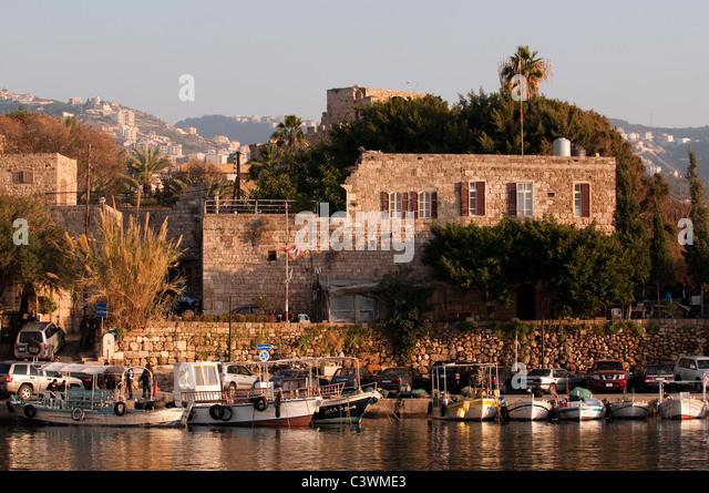 Byblos harbor Beirut Lebanon - Stock Image