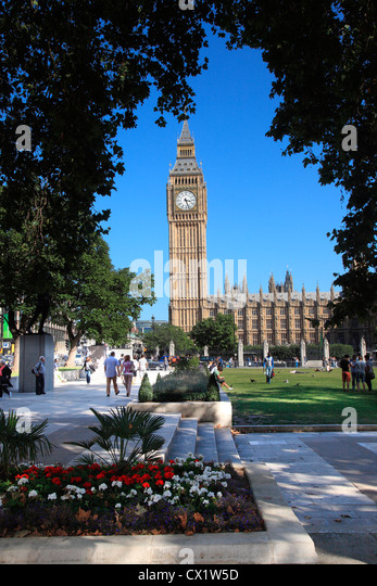 Big Ben and Houses of Parliament at Westminster in London UK. - Stock Image