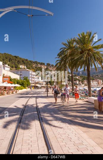 Tramway way Port de Soller - Stock Image